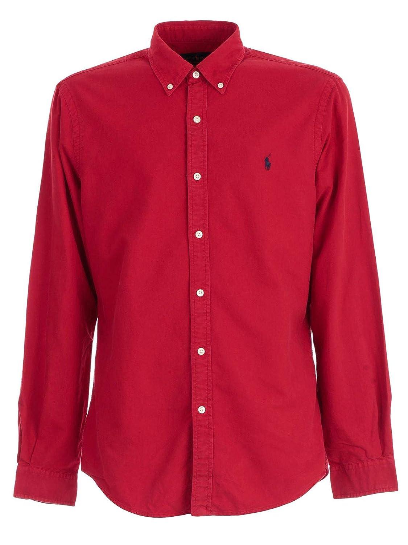 Ralph Lauren Polo Camicia Uomo Pioneer Red