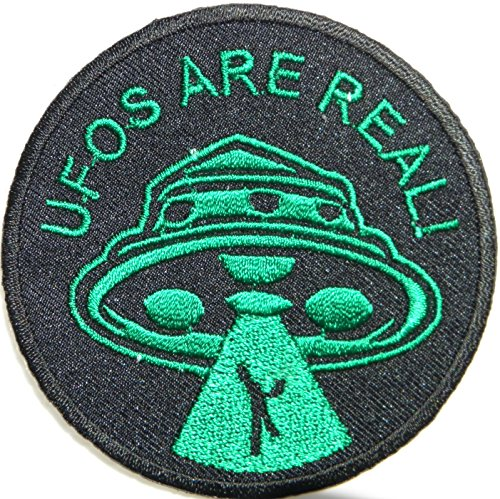 UFO ARE REAL Alien NASA Funny Kid Baby Jacket T-shirt Patch Sew Iron on Embroidered Sign Badge Costum Gift