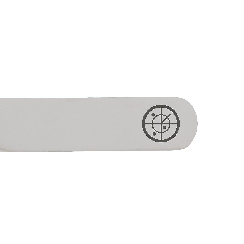 2.5 Inch Metal Collar Stiffeners MODERN GOODS SHOP Stainless Steel Collar Stays With Laser Engraved Radar Design Made In USA