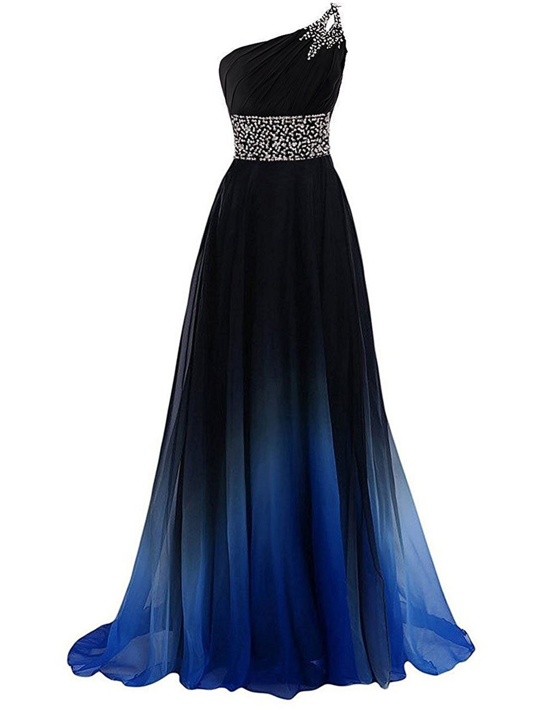 ZVOCY Gradient Evening Prom Dress Long