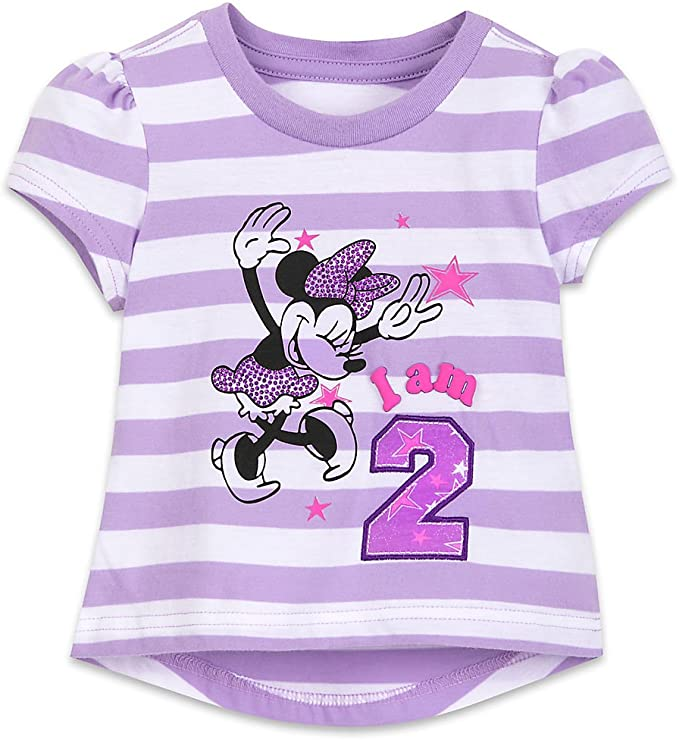 Disney Minnie Mouse Birthday Tee for Girls