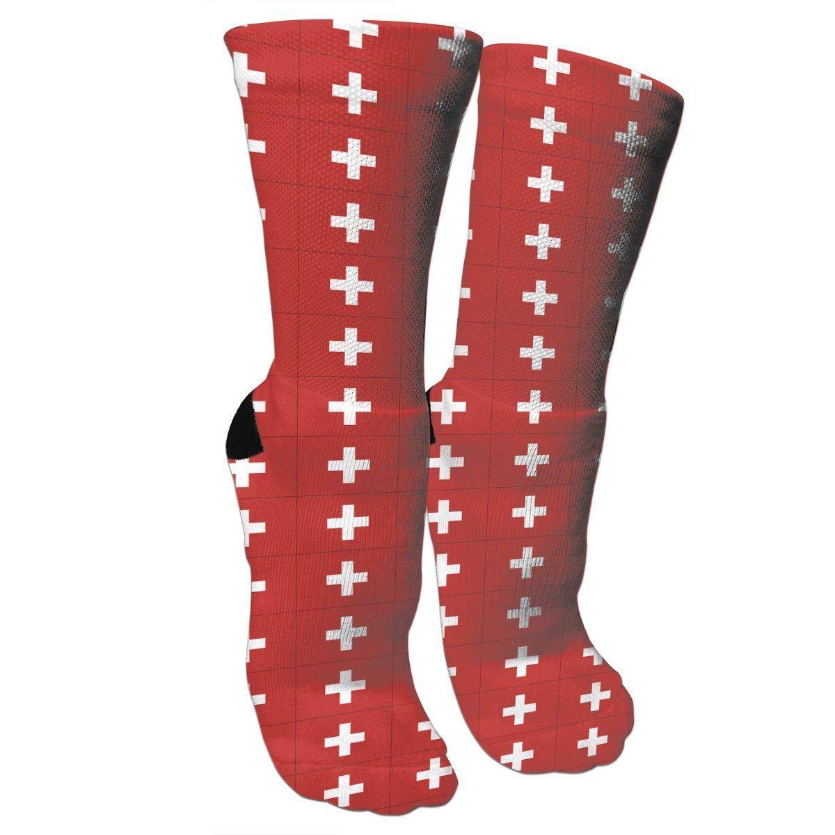 Originality Switzerland Flag Crazy Socks Casual Cotton Crew Socks Cute Funny Sock great for sports and hiking