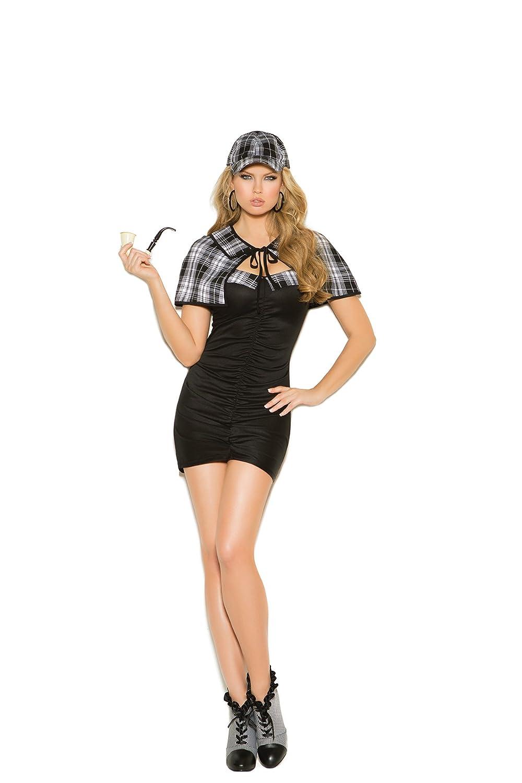 Elegant Moments Sassy Detective Costume 3 Pc. Bandeau Dress, Cape & Hat Only