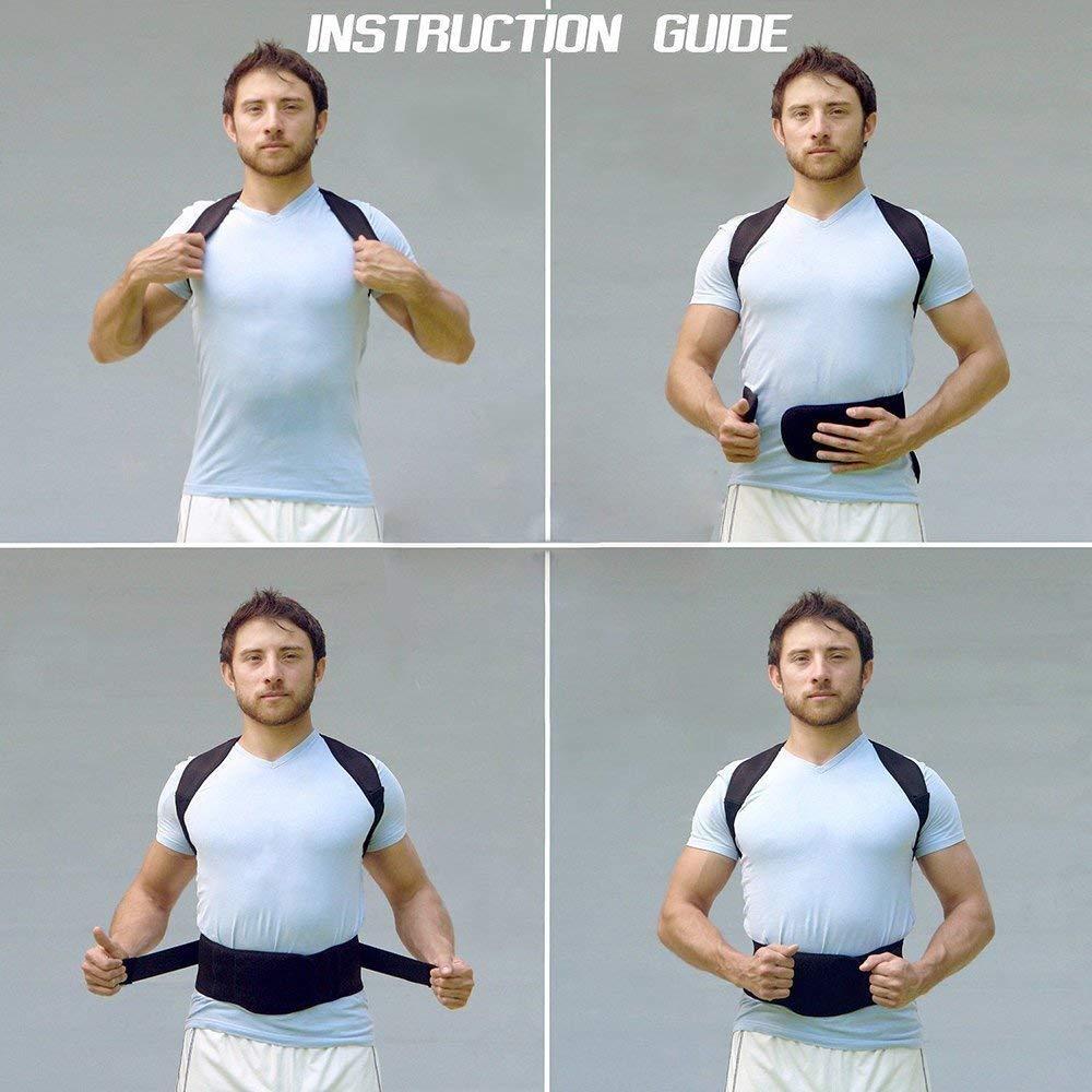Buy Gney Adjustable Magnetic Power Posture Back Support Correction Corset Belt Band Corrective Brace Body Shaper Strap For Women Men Xl Online At Low