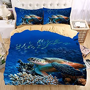 sea turtle bedding sea turtle 3d bedding set print duvet cover set beautiful 2136