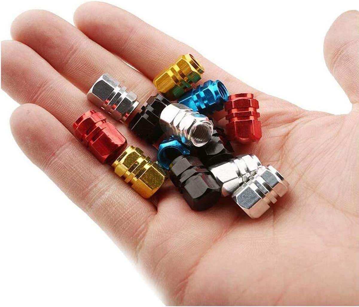 5 Colores Biluer Tapones de V/álvula 60PCS Tapas de V/álvulas de Neum/ático Tapones de v/álvula de Aleaci/ón de Aluminio V/álvula de Neum/ático Cubiertas de Polvo para Moto Cami/ón Bicicleta