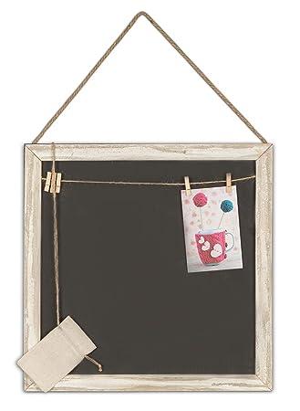 Kreidetafel mit Holzrahmen Wandtafel abwischbar Memoboard Memotafel Wand schwarz
