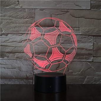 KangYD Balón de fútbol 3D LED Luz de noche, Decoración de ...