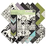 K and Company Black and Ivory Designer 12 by 12-Inch Paper Pad