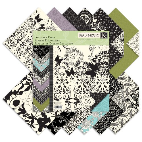 Crafting K & Company Paper (K&Company Black & Ivory Designer 12-by-12-Inch Paper)