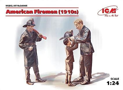 amazon com plastic model figures kit american firemen 1910s 2