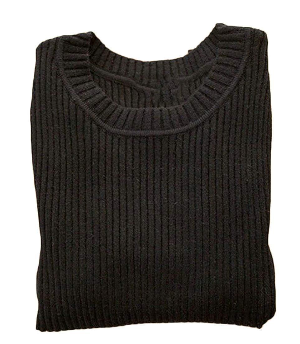Pandapang Boys Girls Jumper Solid Children Crewneck Knitwear Long Sleeve Sweaters
