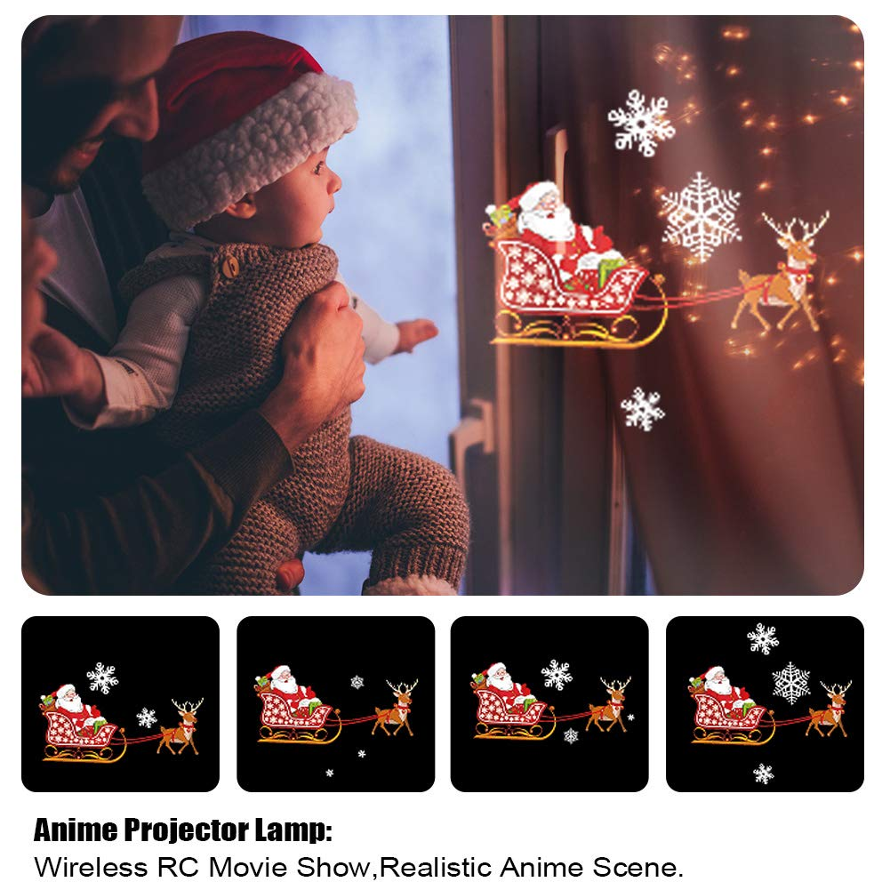 Gsha Christmas Projector Lights, LED Lights Projector 6 Slides Landscape Motion Projector Lights with Remote Control, 16.4ft Power Cable for Indoor and Outdoor Holiday Decoration-Ship from US by Gsha (Image #3)