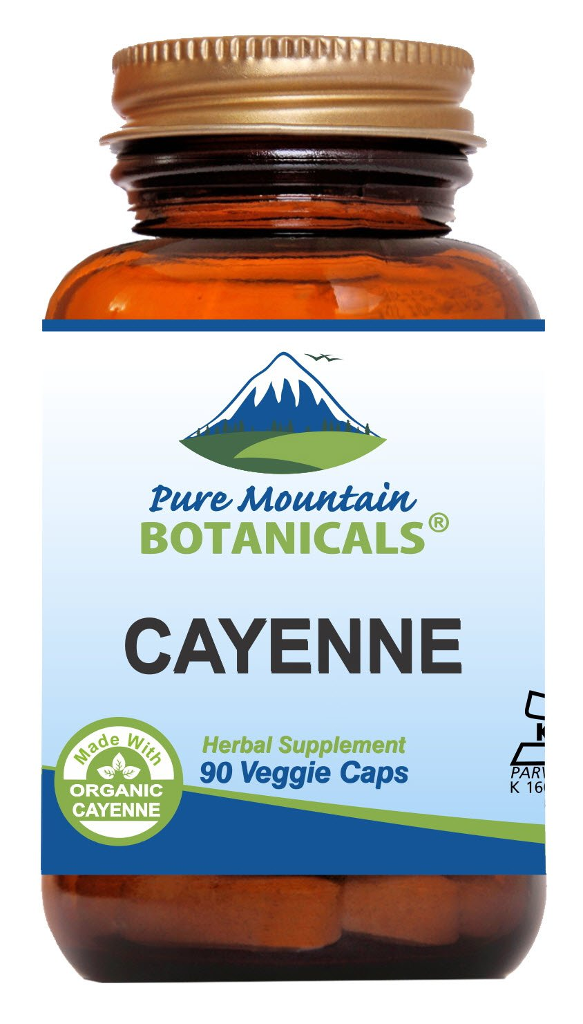 Cayenne Pepper Capsules – 90 Kosher Vegan Caps – Now with 500mg Organic Cayenne Pepper Powder