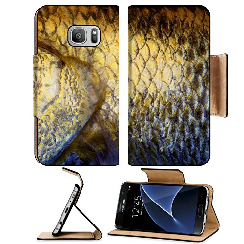 Liili Premium Samsung Galaxy S7 Flip Pu Leather Wallet Case IMAGE ID 32890934 Art Real walleye Fish Scales Background