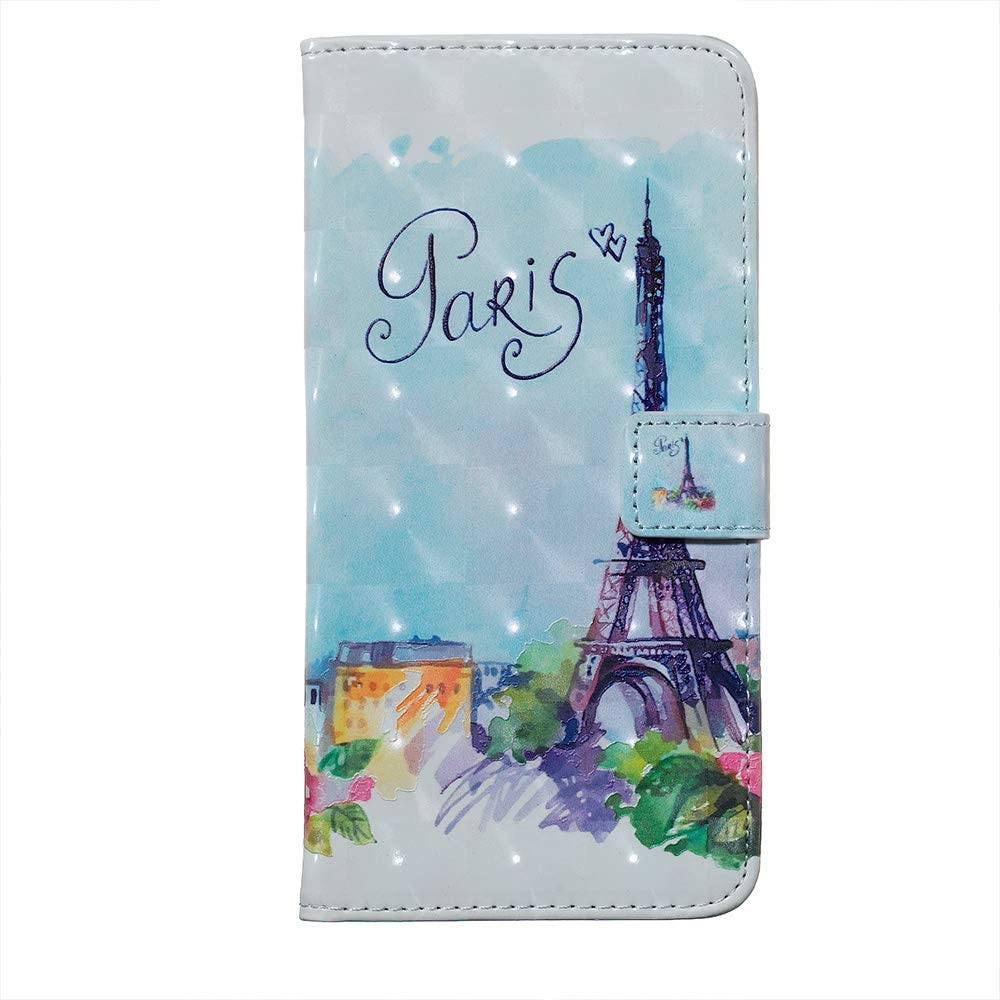 Colorful Waves Amocase Wallet Leather Case with 2 in 1 Stylus for Samsung Galaxy S9 Plus,Premium Slim Cute 3D Painting Shockproof Magnetic PU Leather Card Slot Stand Case