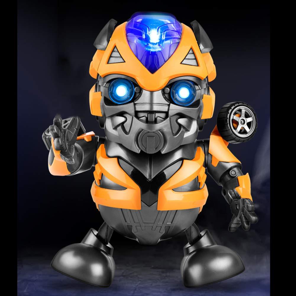 Transformers Bumblebee Tanzen Roboter Spielzeug Tanz Held Bumblebee Actionfigur Spielzeug mit Musik Licht Held Anime Spielzeug Elektronisches Spielzeug f/ür Hummeln Transformers Fans Geschenke