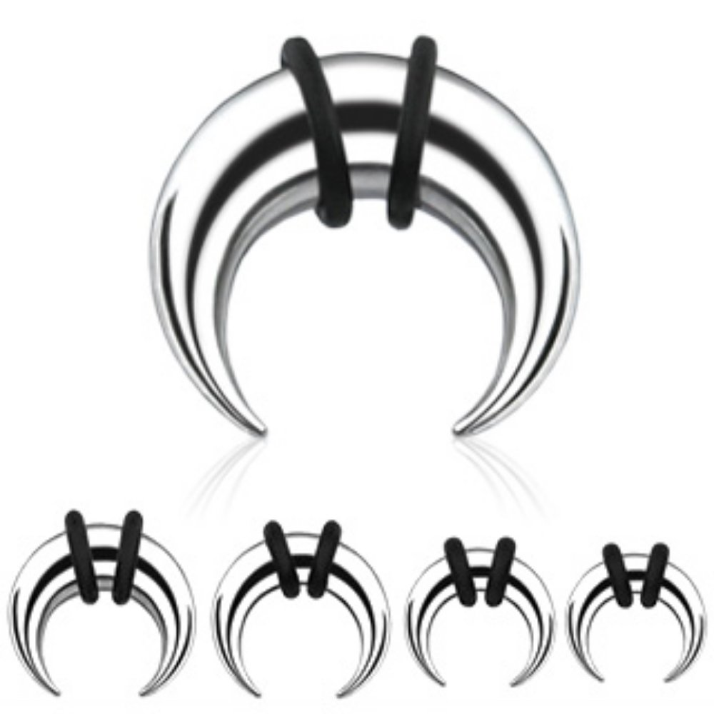 316L Surgical Steel Buffalo WildKlass Taper 64pc Pack (8pcs x 8 sizes, 14GA~0GA) by WildKlass Jewelry