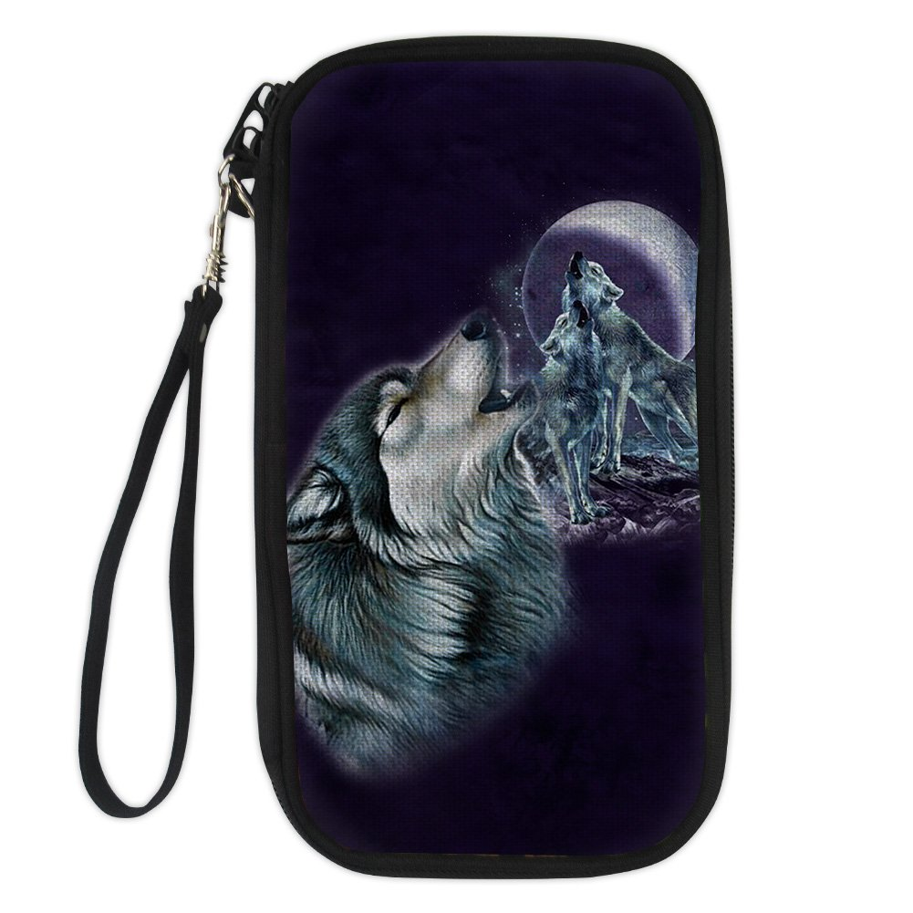 Brand New Wolf Passport Case Thin Strong Waterproof Passport Cover for Travel Crafted