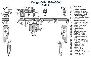 Dodge RAM Full Dash Trim Kit - Lincoln Burlwood