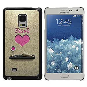 Exotic-Star ( Love Pink Heart ) Fundas Cover Cubre Hard Case Cover para Samsung Galaxy Mega 5.8 / i9150 / i9152