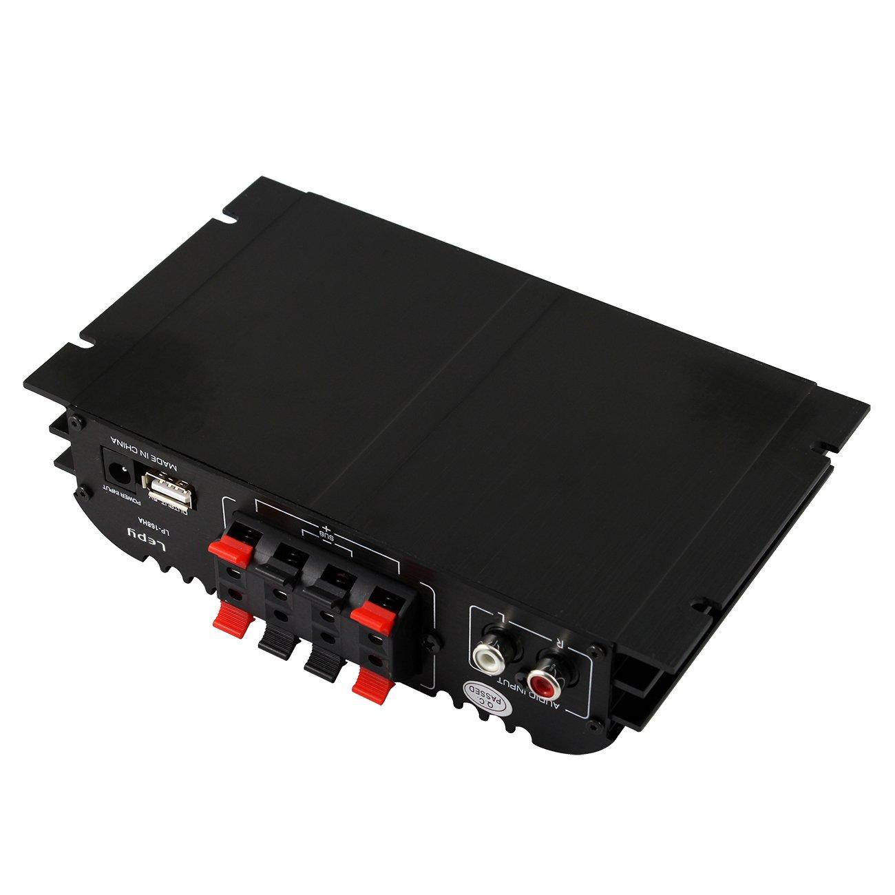 LEPY LP-168HA Amplificador Audio 40W Amplificador Estereo 2.1 mini Hi-Fi Amplificador para CD MD IPOD MP3 MP4: Amazon.es: Electrónica