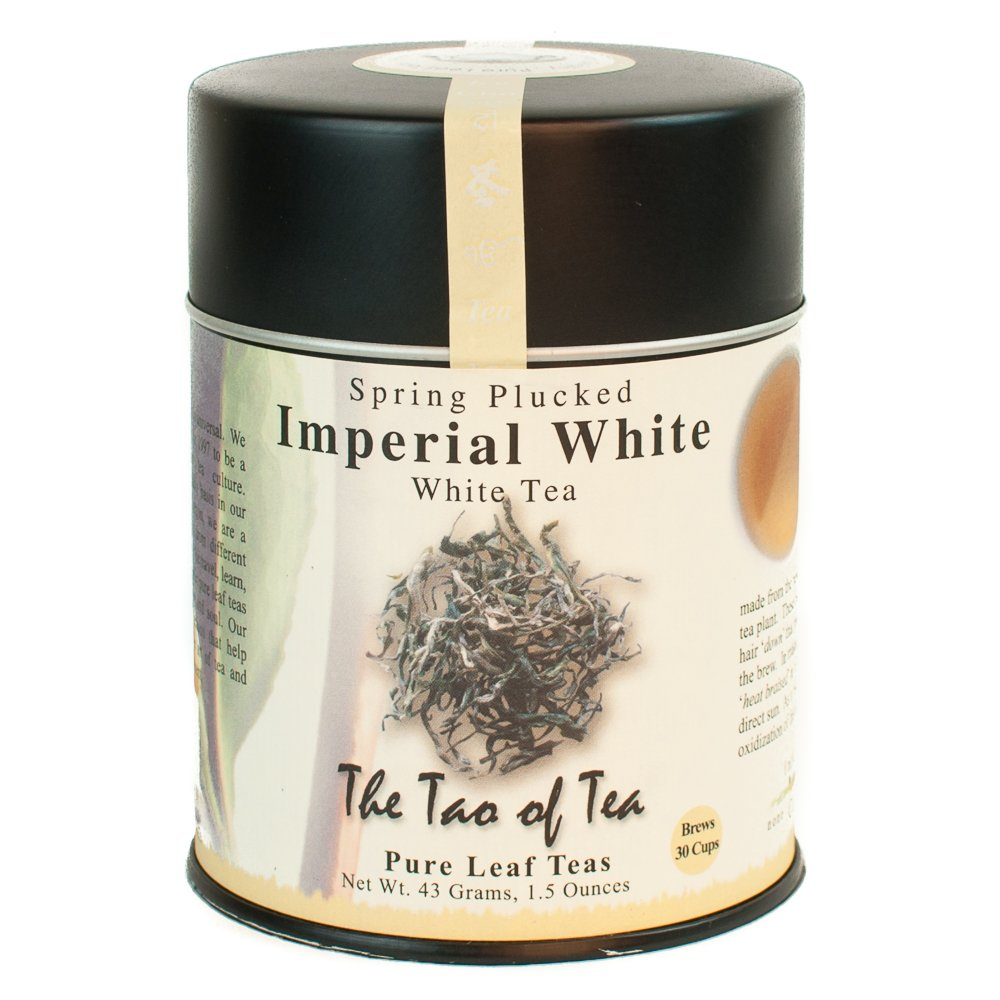 The Tao of Tea, Imperial White Tea, Loose Leaf, 3.5-Ounce Tins (Pack of 2)