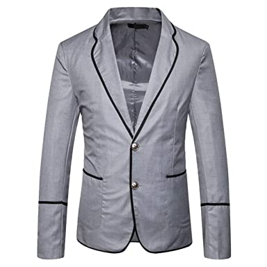 Adelina Men S Campus Style Slim Fit Blazer Jacket Retro Slim Elegant