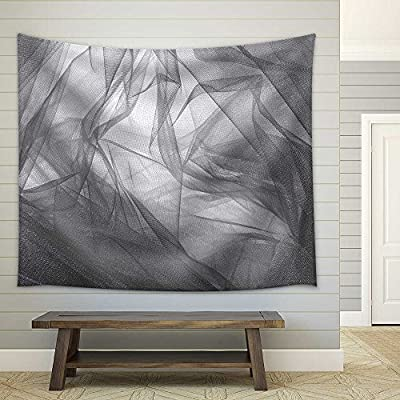 Lovely Artistry, Abstract Grey Tulle Fabric Background and Textures Fabric Wall, Created Just For You