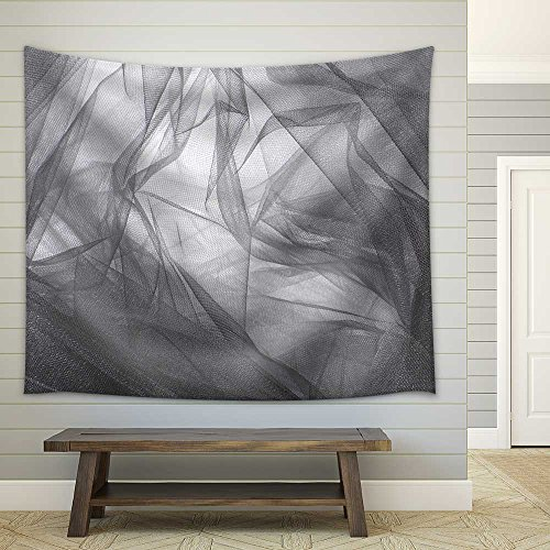 Abstract Grey Tulle Fabric Background and Textures Fabric Wall