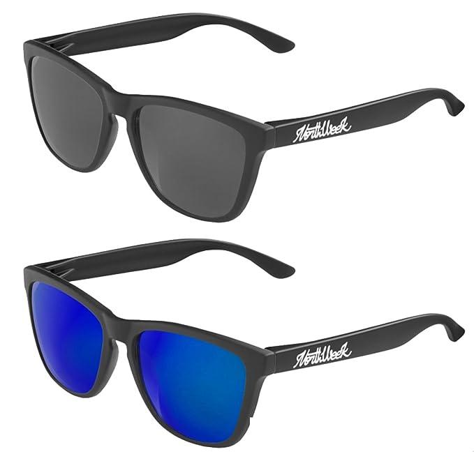 Pack Gafas de sol Northweek mate/black lente negra y lente azul polarizada - UNISEX: Amazon.es: Ropa y accesorios