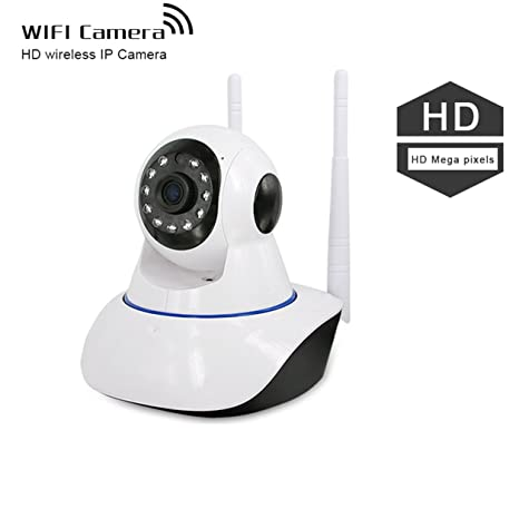 Cámara de seguridad IP inalámbrico, 360eyes Panorama Casa Inteligente 1 MP 720P HD monitor Plug