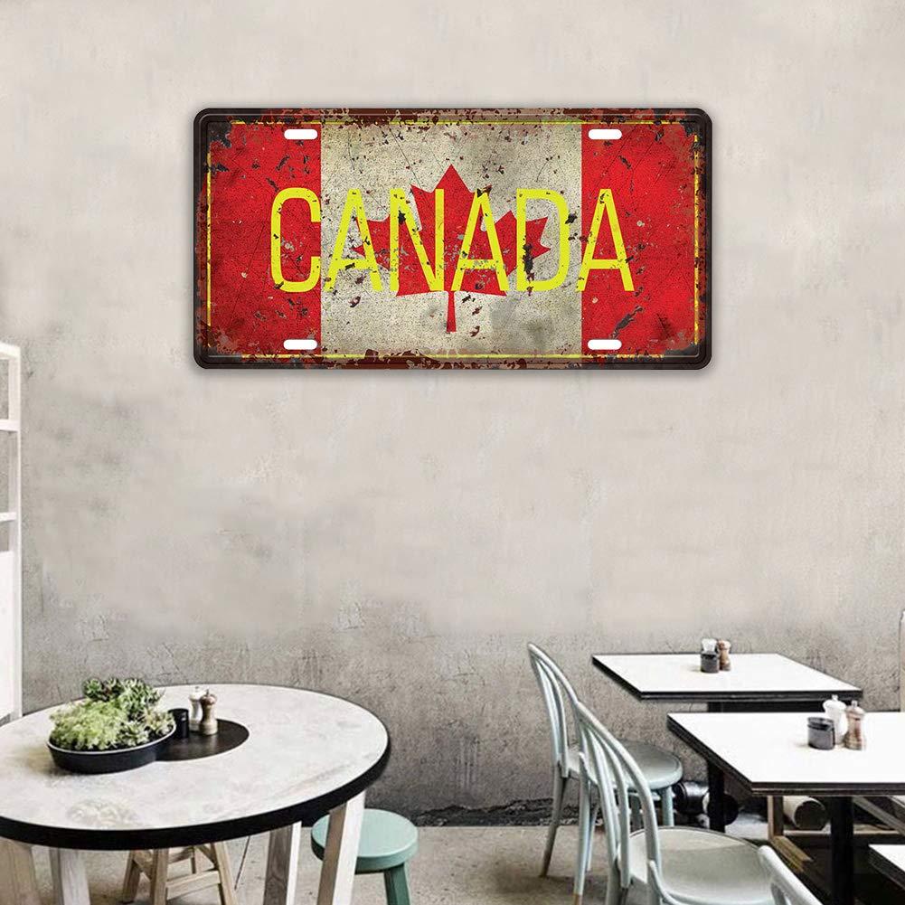 Asien 1pc Vintage M/étal Tin Canada Signe Caf/é Bar Pub D/écoration Murale Creative Fer Plaque Murale Poster