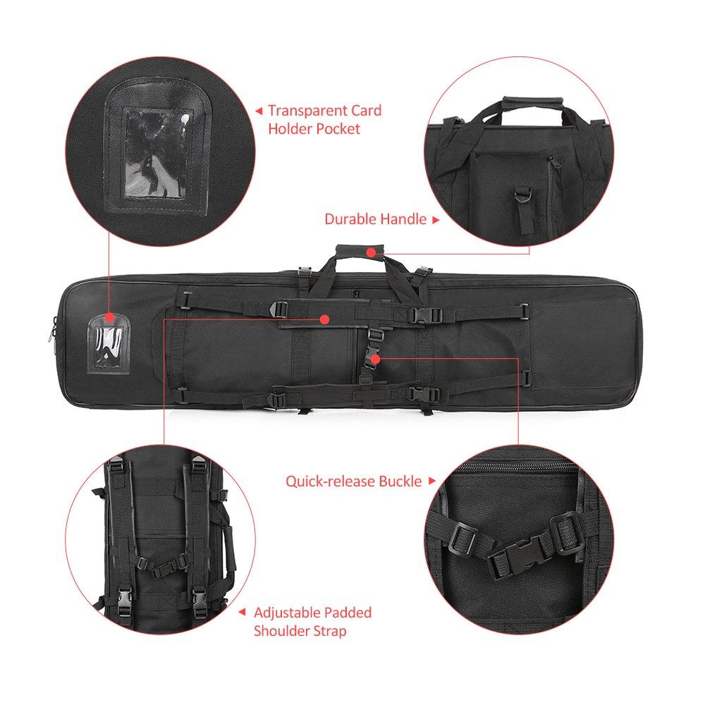 Festnight 95cm / 120cm Outdoor Hunting Gun Carry Bag Gear Protection Case with Adjustable Shoulder Strap, Black by Festnight (Image #7)