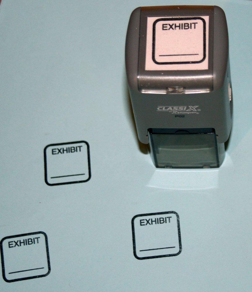Exhibit Stamp