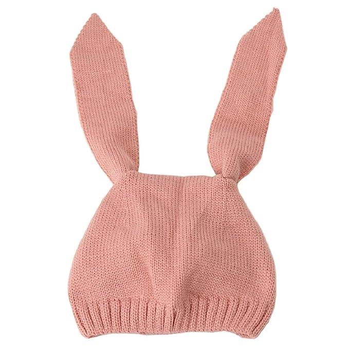 Tuopuda® Cappello Invernale Bambino Neonato Cappello con Orecchie Cappello  Pile Berretto Maglia (Rosa)  Amazon.it  Abbigliamento dc1bf7515d55