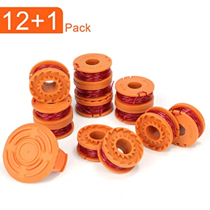 WORX WA0010 6 pack Replacement Spool Line with 1 Pack  Spool Cap Cover