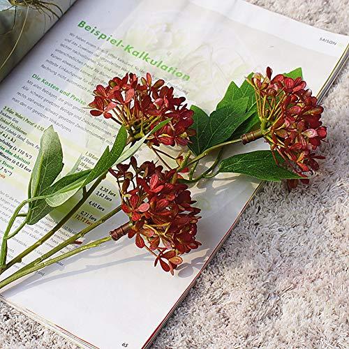 - yanbirdfx 1Piece Artificial Desktop Vivid Color No-Fading Lilac Ball Plant Long Stems Home Garden Outdoor Flower Arrangement DIY Decoration Wine Red
