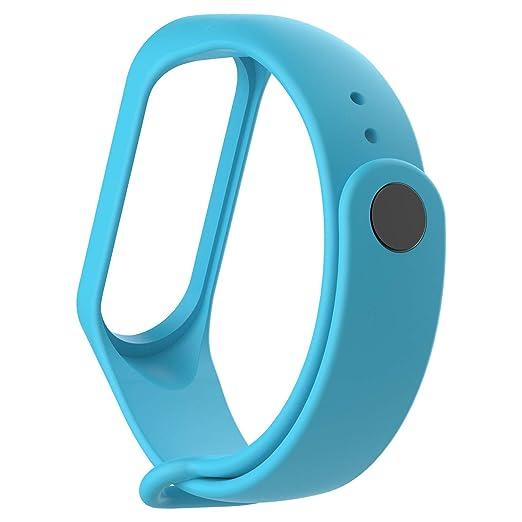 Recambio para Pulsera Actividad XIAOMI MI Band 3 SMARTWATCH MIBAND Correa Reloj (Azul)