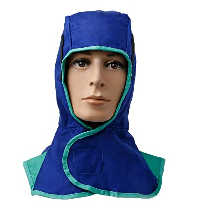 023d0d7ea17c Image Unavailable. Image not available for. Color  ULKEME Washable Flame  Retardant Welding Neck Face Protection Hood Welder Head ...