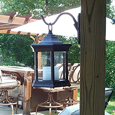 Clear Glass Solar Lantern in Weathered Brown