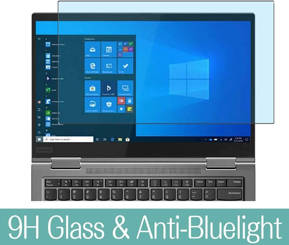"""Synvy Anti Blue Light Tempered Glass Screen Protector Compatible with Lenovo ThinkPad X1 Yoga Gen 5 2020 14"""" Visible Area 9H Protective Screen Film Protectors (Not Full Coverage)"""
