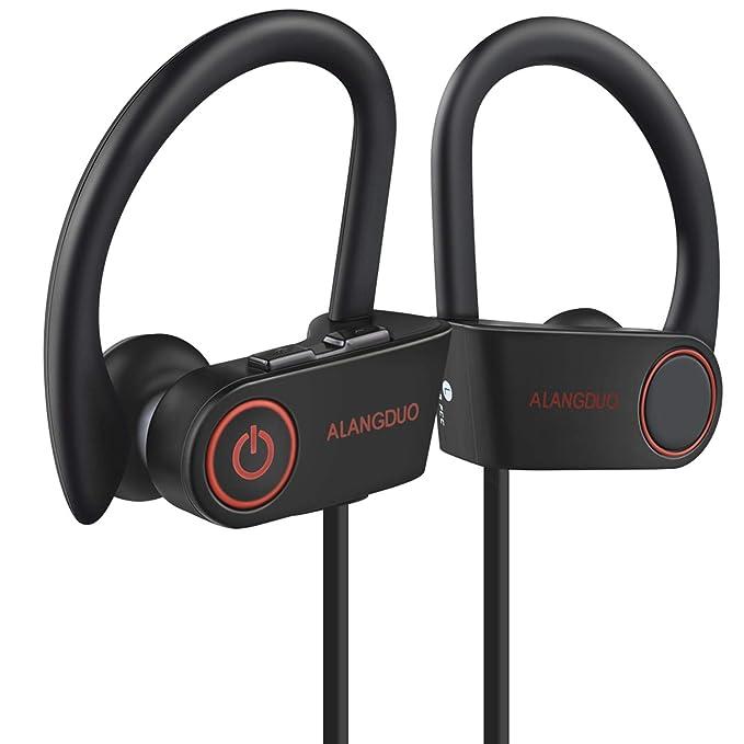 Bluetooth auriculares, original ALANGDUO G6 inalámbrico auriculares negro ligero entrenamiento para iPhone, Samsung,