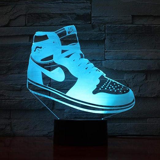 designer fashion buy best website for discount Michael Jordan 11 baskets veilleuse LED 3d Illusion RGB lumières ...