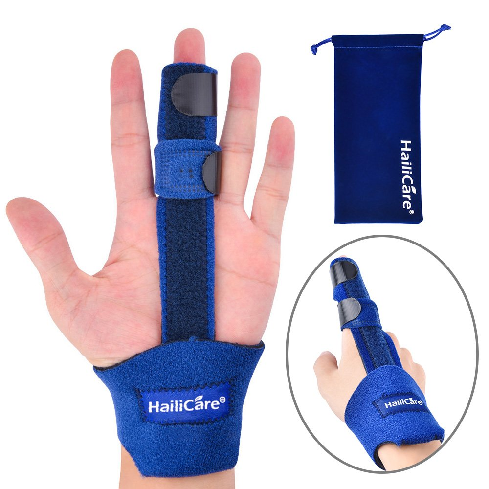 HailiCare Finger Extension Splint for Trigger Finger, Mallet Finger, Finger Knuckle Immobilization, Finger Fractures, Pain Relief from Stenosing Tenosynovitis - Trigger Finger Solutions
