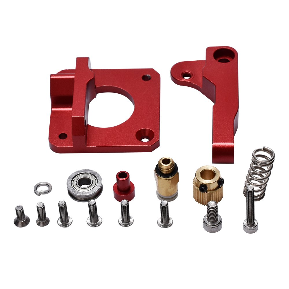 KINGPRINT Upgraded Replacement 3D Printer Part MK8 Extruder Aluminum Block Bowden Extruder 1.75MM Filament Reprap Extrusion for CR10/CR-10/CR-10S DIY (Red)