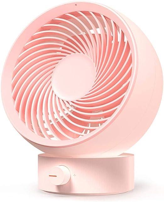 Stepless Speed Adjustment Silent Desktop Fan,Pink WZ YDTH USB Plug-in Cyclone Fan