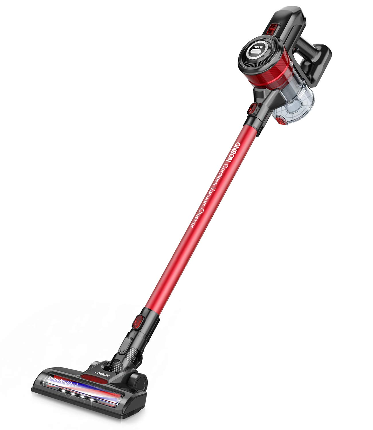 Cordless Vacuum, ONSON Stick Vacuum Cleaner, Powerful Cleaning Lightweight Handheld Vacuum with Rechargeable Lithium Ion Battery by ONSON