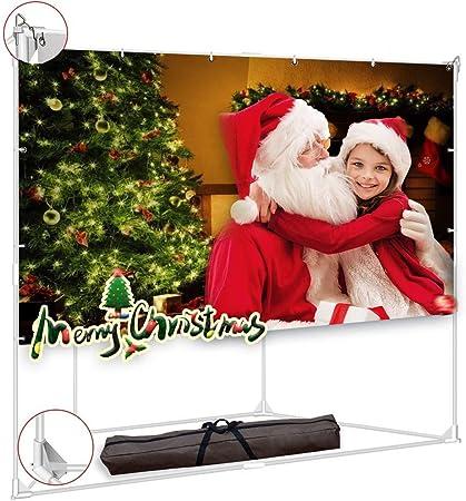 Amazon.com: Pantalla de proyector con soporte Trapezoid de ...
