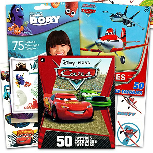 Disney Pixar Ultimate Party Favors Set ~ Over 170 Temporary Tattoos Featuring Cars, Finding Nemo and (Pixar Tattoo)